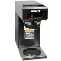 Bunn 13300.0011 VP17-1 BLK Black Pourover Coffee Brewer with 1 Lower Warmer - 120V