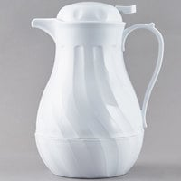 Choice 64 oz. White Thermal Swirl Coffee Carafe / Server