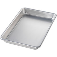 Chicago Metallic 41805 Eighth Size 16 Gauge Glazed Aluminum Customizable Sheet Pan - Curled Rim, No Wire, 6 1/2 inch x 9 1/2 inch