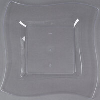 Fineline Wavetrends 110-CL 10 3/4 inch Clear Plastic Square Plate - 10 / Pack