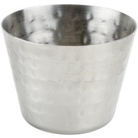 American Metalcraft HAMSC 2.5 oz. Hammered Stainless Steel Round Sauce Cup