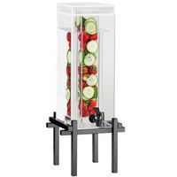 Cal-Mil 1132-1INF-13 Black One By One 1.5 Gallon Beverage Dispenser with Infusion Core