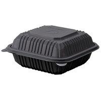 Green Wave Ultra ET-BOO-266 6 inch x 6 inch x 3 inch Black Burger Box - 200 / Case