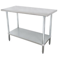 """Advance Tabco SLAG-246-X 24"""" x 72"""" 16 Gauge Stainless Steel Work Table with Stainless Steel Undershelf"""