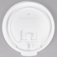 Dart Solo LB3081 8 oz. White Tear Tab Lid - 100/Pack