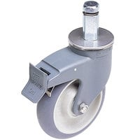 Cambro CPMCWB000 5 inch Premium Total Locking Swivel Caster for Cambro Camshelving Premium CSPRK Mobile Shelving Post Kits and CSUR Mobile Shelving Units