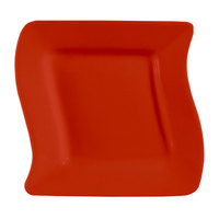 CAC SOH-21R Color Soho 12 inch Red Square Stoneware Plate - 12/Case