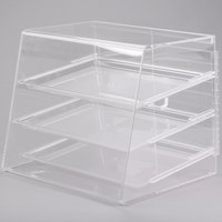 Cal-Mil P241 Classic Three Tier Acrylic Display Case with Rear Door - 19 inch x 16 1/2 inch x 16 inch