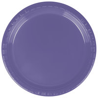 "Creative Converting 28115011 7"" Purple Plastic Plate - 240/Case"