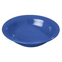 Carlisle 4303614 Durus 12 oz. Ocean Blue Rimmed Melamine Bowl - 24/Case