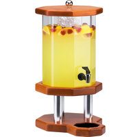 Cal-Mil 972-2-53 Westport 2 Gallon Beverage Dispenser with Light Wood Base and Ice Chamber