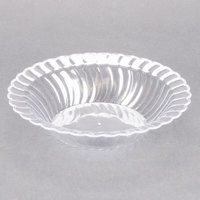 Fineline Flairware Clear 212-CL 12 oz. Plastic Bowl - 18/Pack