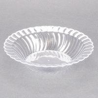 Fineline Flairware Clear 212-CL 12 oz. Plastic Bowl - 18/Pack