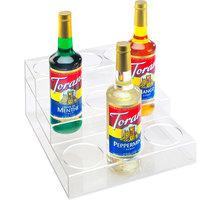 Cal-Mil P296 Clear Acrylic 3 Tier Bottle Organizer- 12 inch x 14 3/4 inch x 6 1/4 inch