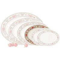 GET M-4040-CG Garden 10 inch x 7 1/2 inch Melamine Oval Platter - 12/Pack