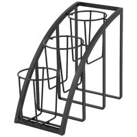 Cal-Mil 1746-3-13 Mission Black Steel Three Tier Upright Cylinder Display - 7 inch x 13 inch x 10 3/4 inch