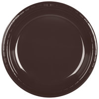 Creative Converting 28303831 10 inch Chocolate Brown Plastic Plate - 240/Case