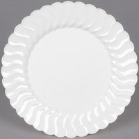 Fineline Flairware 207-WH 7 1/2 inch White Customizable Plastic Plate - 180/Case