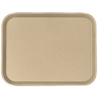 Cambro 1014FF104 10 inch x 14 inch Desert Tan Customizable Fast Food Tray - 24/Case
