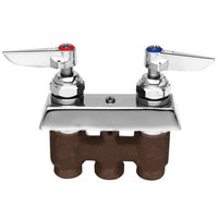 T&S B-0513 Wall Mounted Concealed Mixing Faucet with Lever Handles - 3 inch Centers
