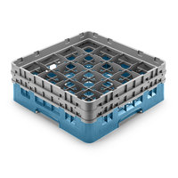 Cambro 16S958414 Camrack Customizable 10 1/8 inch High Customizable Teal 16 Compartment Glass Rack