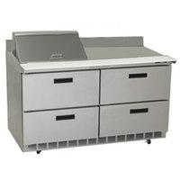 Delfield STD4464N-12M 64 inch 4 Drawer Mega Top Refrigerated Sandwich Prep Table with 4 inch Backsplash