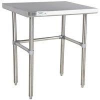 "Regency 24"" x 30"" 16-Gauge 304 Stainless Steel Commercial Open Base Work Table"