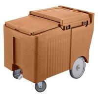 Cambro ICS175LB131 Dark Brown Sliding Lid Portable Ice Bin - 175 lb. Capacity
