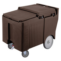 Cambro ICS175LB131 Dark Brown Sliding Lid Portable Ice Bin - 175 lb. Capacity