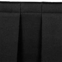National Public Seating SB24-48 Black Box Stage Skirt for 24 inch Stage - 48 inch Long