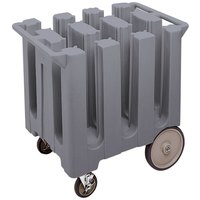 Cambro DC575191 Granite Gray Poker Chip Dish Dolly / Caddy with Vinyl Cover - 6 Column