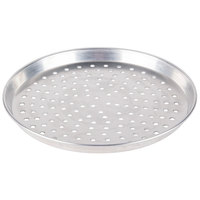 American Metalcraft PHADEP13 13 inch x 1 inch Perforated Heavy Weight Aluminum Tapered / Nesting Deep Dish Pizza Pan
