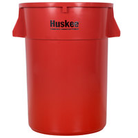 Continental 4444RD Huskee 44 Gallon Red Trash Can