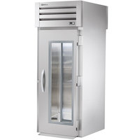 True STG1RRT-1G-1S Specification Series One Section Roll Through Refrigerator with Front Glass Door and Rear Solid Door