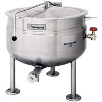 Cleveland KDL-60-SH Short Series 60 Gallon Stationary Full Steam Jacketed Direct Steam Kettle