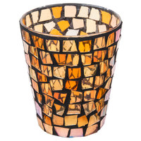 Sterno Products 80124 4 inch Fall Mosaic Liquid Candle Holder