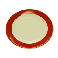 CAC R-125RED Rainbow Pasta Bowl 30 oz. - Red - 12/Case