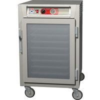 Metro C565-NFC-UPFS C5 6 Series Half-Height Reach-In Pass-Through Heated Holding Cabinet - Clear / Solid Doors