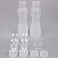 GET SDB-32-PC-2 Two-Pack 32 oz. Polycarbonate Salad Dressing / Juice Bottle and Lid Set