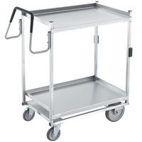 Vollrath 97205 Heavy-Duty Stainless Steel 2 Shelf Utility Cart - 39 inch x 20 inch x 44 1/2 inch