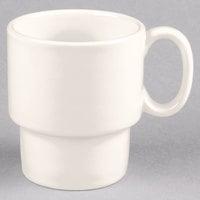 Tuxton BEM-1003 DuraTux 10 oz. Ivory (American White) Stackable China Mug - 24/Case