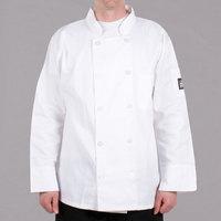 Chef Revival Bronze J100 White Unisex Customizable Chef Coat - L