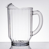 Carlisle 554007 VersaPour 60 oz. Clear Polycarbonate Beverage Pitcher
