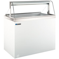 Master-Bilt DD-46CG 48 inch Curved Glass Ice Cream Dipping Cabinet