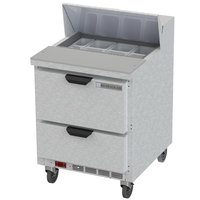 Beverage-Air SPED27HC Elite Series 27 inch 2 Drawer Refrigerated Sandwich Prep Table
