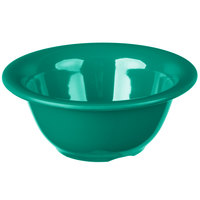 Carlisle 3303809 Sierrus 10 oz. 5 3/8 inch Meadow Green Rimmed Melamine Nappie Bowl   - 24/Case