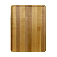 Cambro 1219D303 12 inch x 19 inch Light Butcher Block Wood-Look Dietary Tray - 12/Case