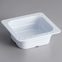 GET ML-157-W 1/6 Size 2 1/2 inch Deep White Melamine Food Pan - 6/Case