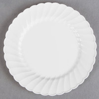 """WNA Comet CW6180W Classicware 6"""" White Plastic Plate - 18/Pack"""