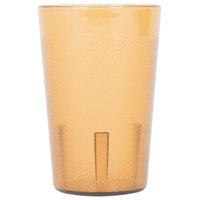 8 oz. Amber SAN Plastic Pebbled Tumbler - 12/Pack